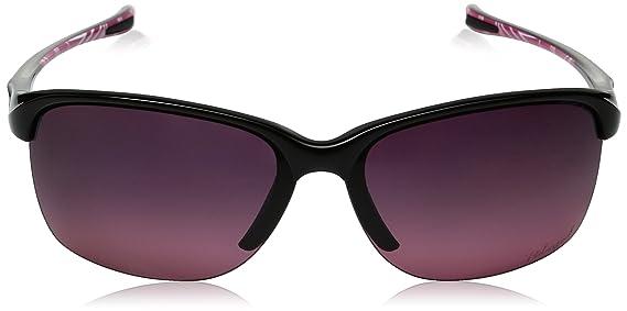 b9cc0e0686 Amazon.com  Oakley Men s Unstoppable Rectangular Sunglasses Polished Black  w Rose Gradient Polarized 65 mm  Clothing