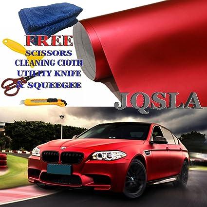 *Premium Red Supercast Chrome Car Vinyl Wrap Sticker Easy Stretch Air Release