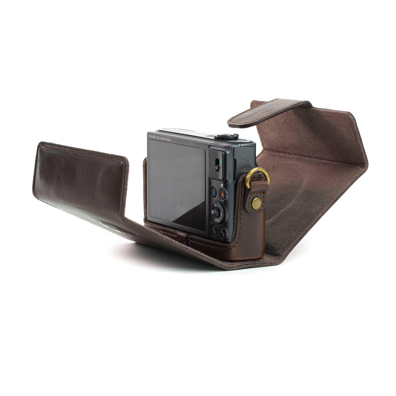 Funda de Pronto Uso de Cuero MegaGear Estuche Ever Ready con Correa Compatible con Canon PowerShot SX620 HS