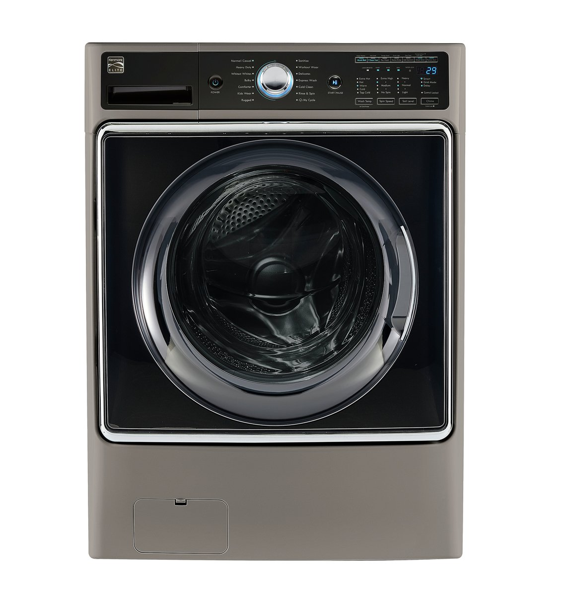 Kenmore Smart 75042 5.2 cu.ft. Front Load Washer with Accela Wash Technology in Metallic Silver  - Works with Amazon Alexa, includes delivery and hookup (Available in select cities only) by Kenmore