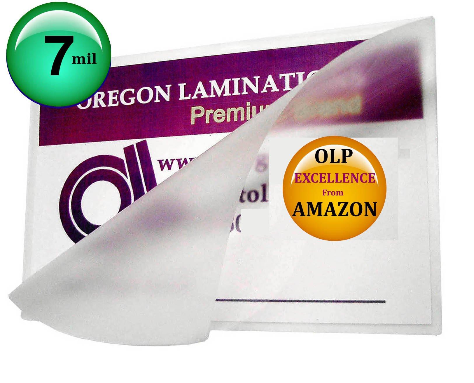 7 Mil Mini Menu Laminating Pouches 11-1/4 x 17-1/4 Laminator Sleeves qty 100 by Oregon Lamination Premium