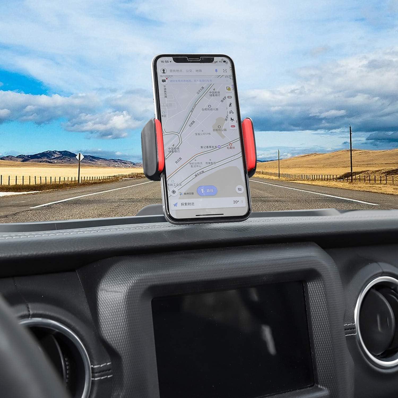 RT-TCZ for Jeep Wrangler Multi-Function Phone Holder Radio Holder Walkies Talkie Mount Bracket Bolt on Stand Bracket Organizer for 2018-2021 Jeep Wrangler JL JLU