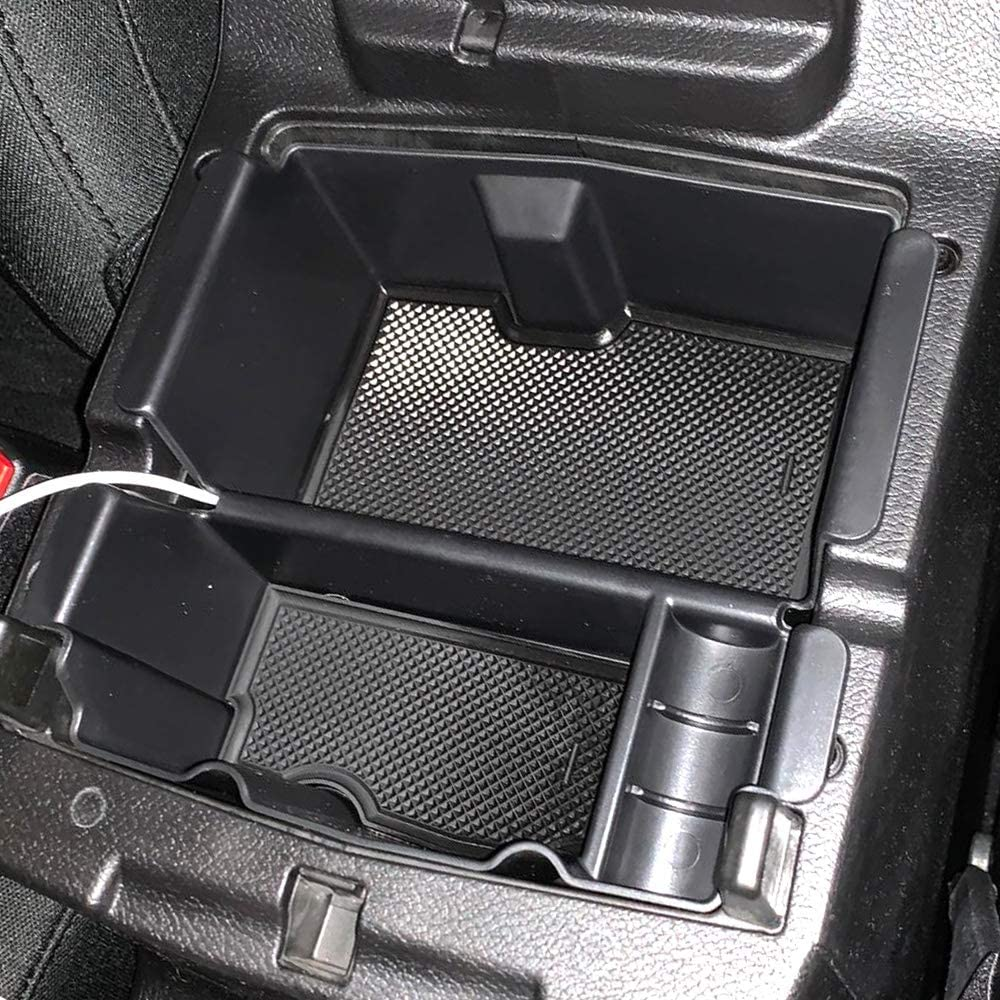Black 2018 2019 2020 Carforu Center Console Insert Divider Fit for Jeep Wrangler JL//JLU 2020 and Jeep Gladiator JT Truck Armrest Storage Box Organizer Divider