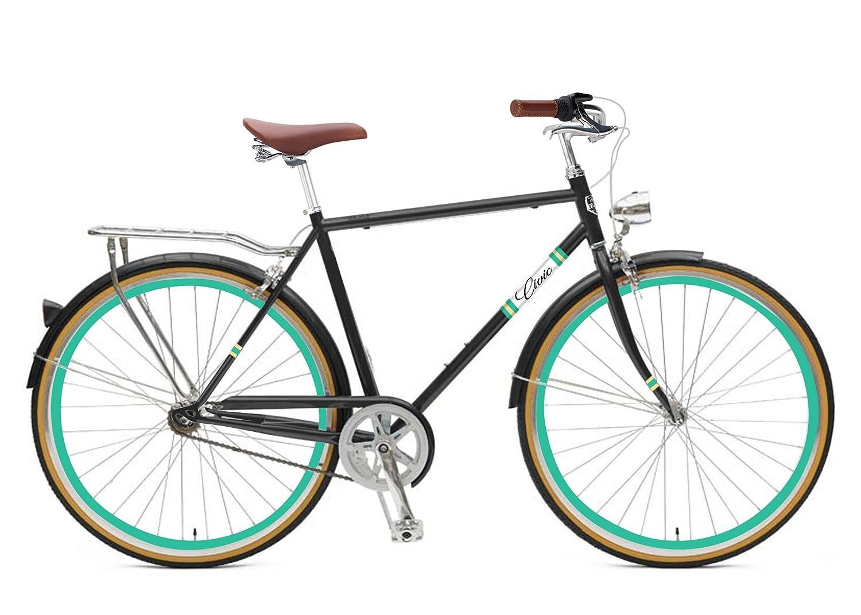 Zycle Fix 50 CMバイク固定ギアメンズシビックシリーズ固定ギア自転車 – ブラックSkies B01N6RZKB5