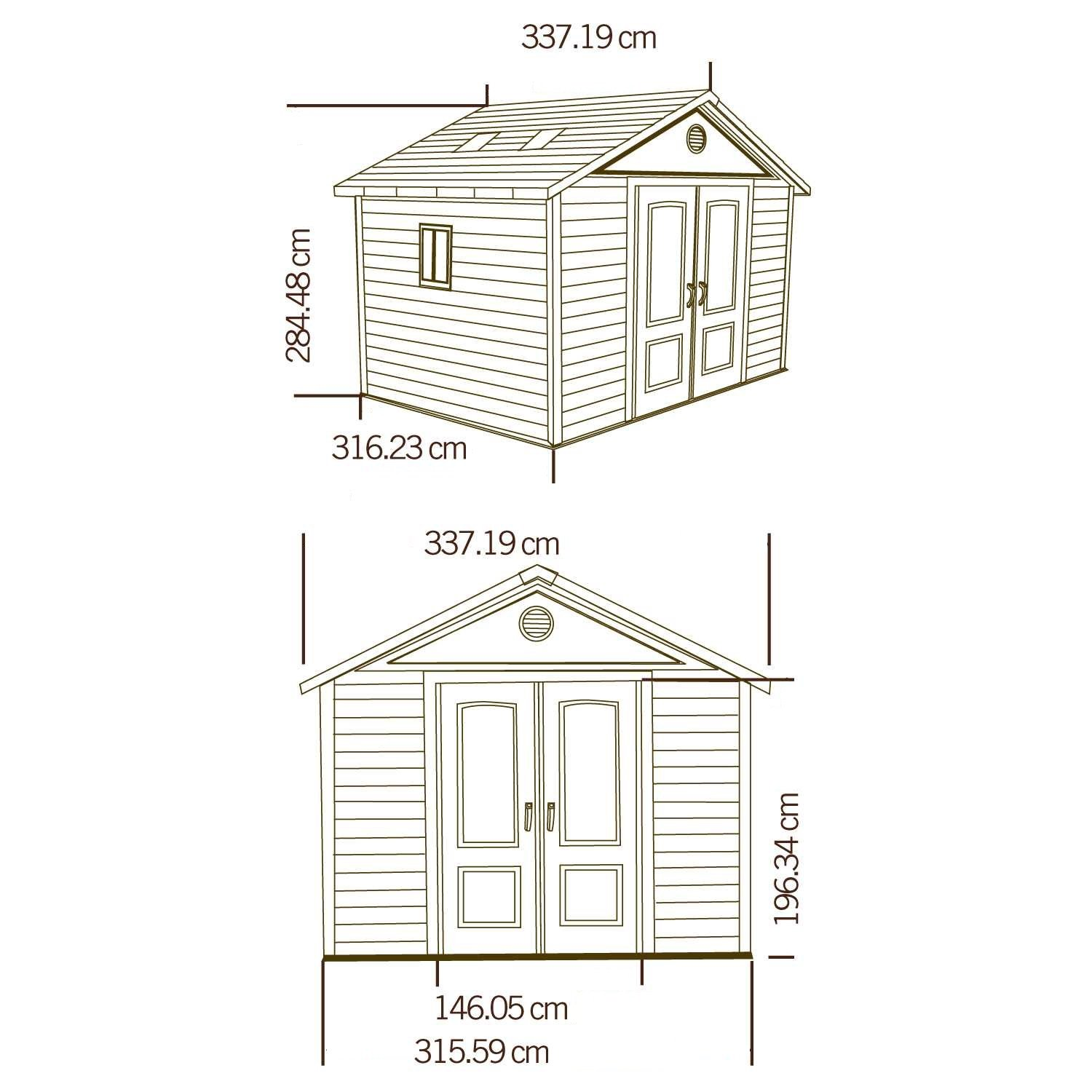 Lifetime 6433 11 by 11 Foot Outdoor Storage Shed with Windows
