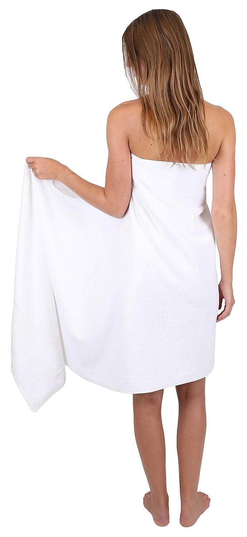 BETZ Serviette /à Sauna Serviette de Bain 100/% Coton Taille 80x200 cm Palermo Couleur Blanc