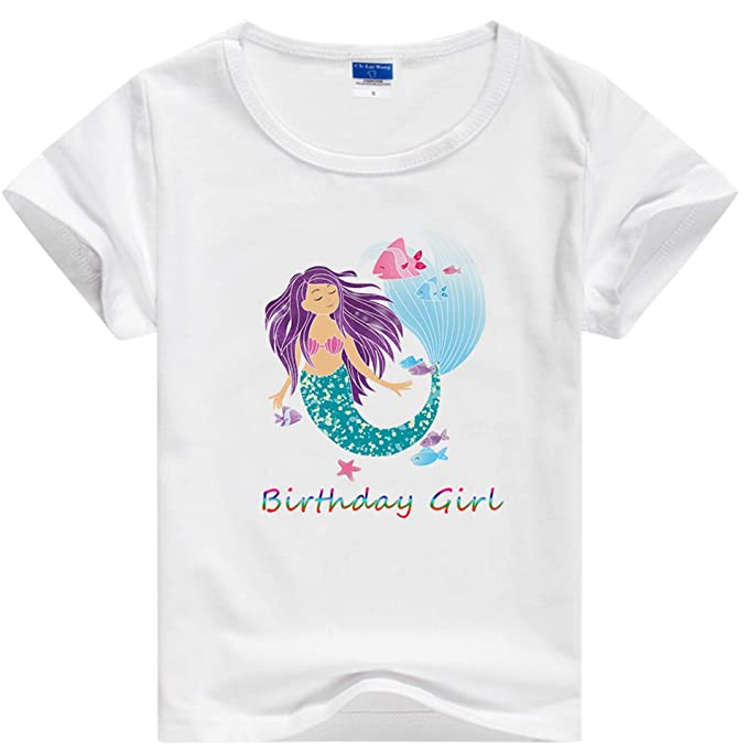 Amazon.com: Camiseta de cumpleaños de sirena, regalo de ...