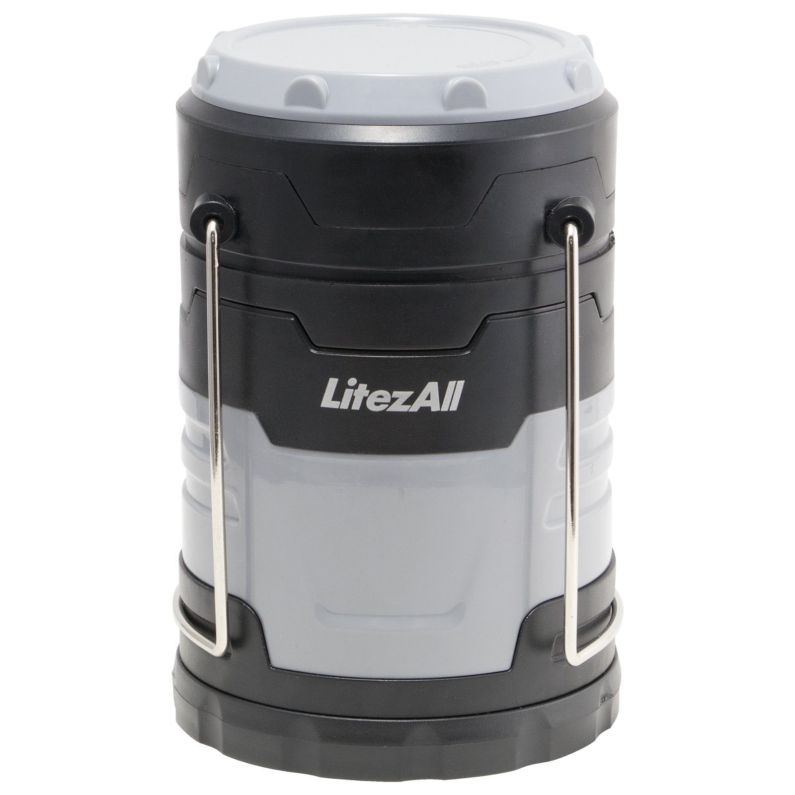 LitezAll 200 Lumens EASY PULL OPEN COB LED Lantern/FOR Camping, Workshops, Home, Cabin, or Outbuildings (100% Mfg Guarantee) (Gray) by Apollo's Products (Image #1)