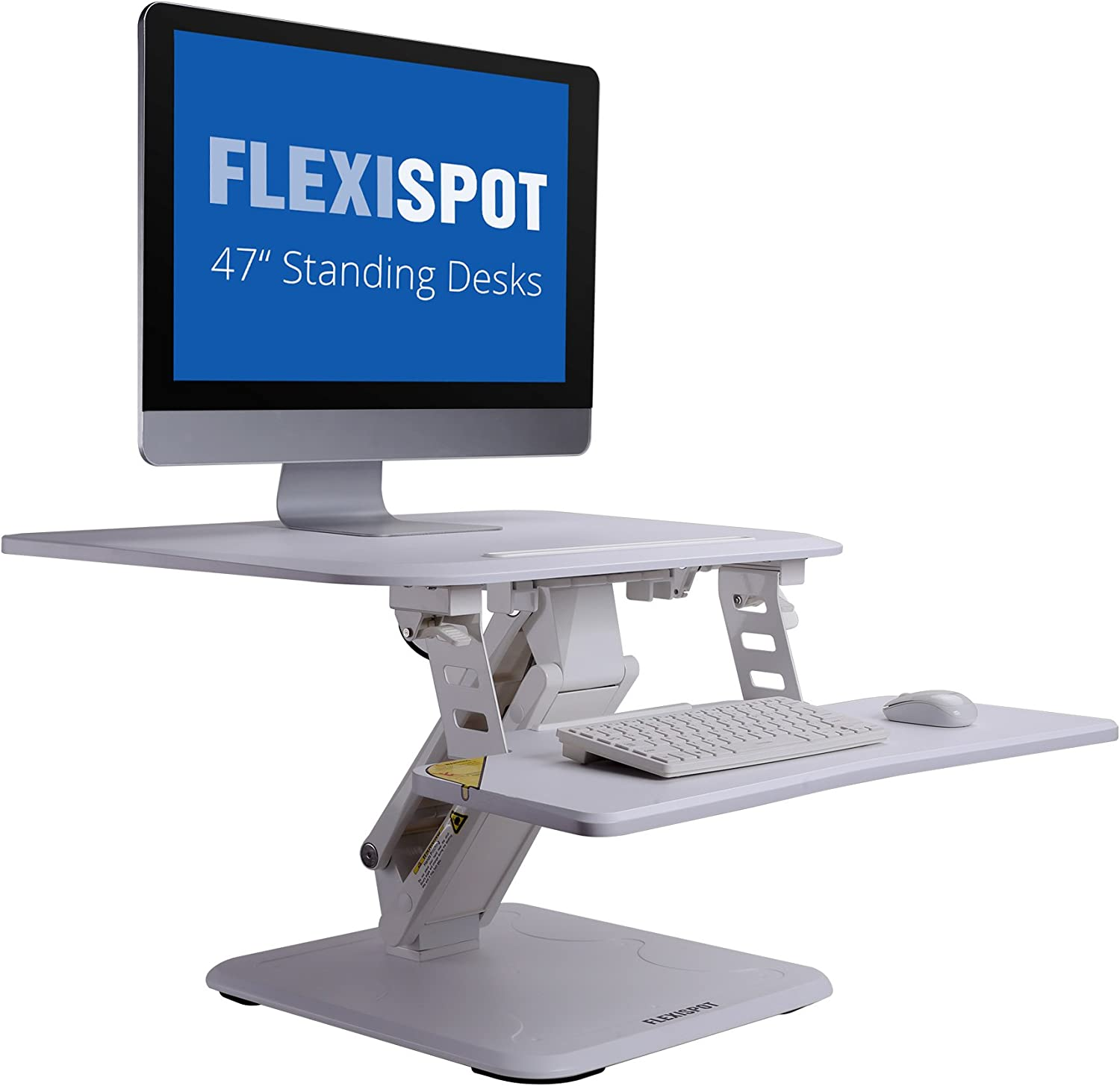 FlexiSpot 27 Height Adjustable Standing Desk Converter, w Quick Release Removable Keyboard Tray