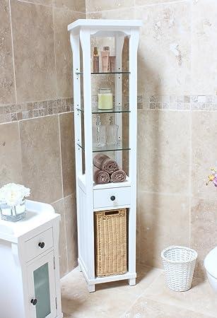 Hampton Tall Bathroom Cabinet And Laundry Bin