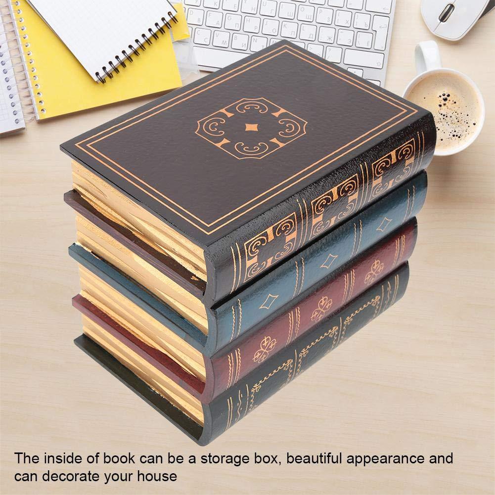 Hztyyier Caja de Almacenamiento Vintage Caja de Almacenamiento de Libro Falso Decorativo Decoraci/ón de Estante de Oficina en casa #1