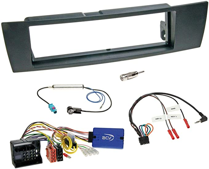 Mounting Frame Set With Steering Wheel Adapter For Din Elektronik