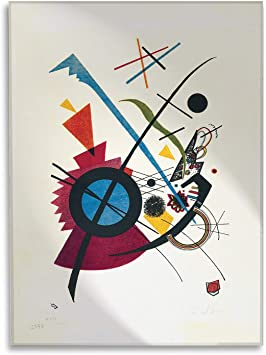 Kandinsky Improvisation klamm 50x50 cm Quadro Vari Formati Giallobus Stampa su su Vetro Acrilico plexiglass Pronto da Appendere