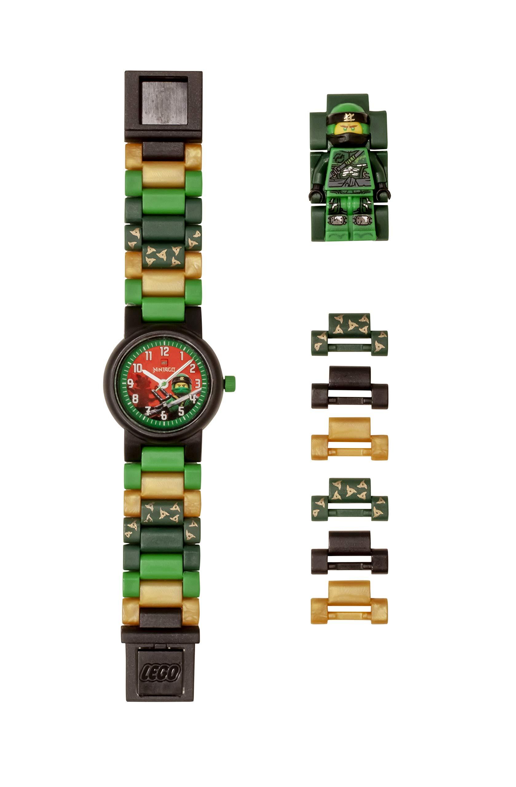 LEGO Watches and Clocks Boy's 'Ninjago Lloyd' Quartz Plastic Casual watch,  Color:Green (Model: 8021421)
