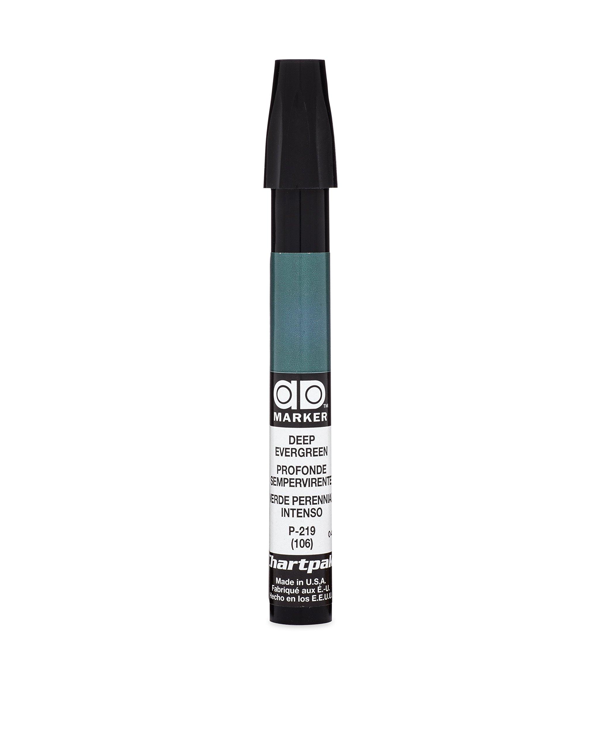 The Original Chartpak AD Marker, Tri-Nib, Deep Evergreen, 1 Each (P219)