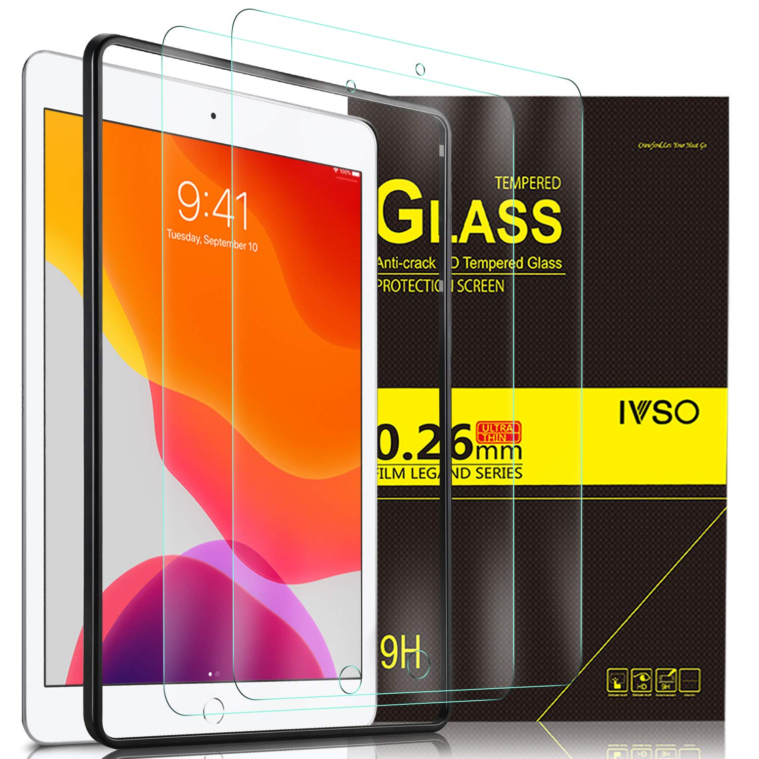 """[4+2 Pack] IVSO for Samsung Galaxy S21 Plus Screen Protector and Camera Protector, Tempered Glass Screen Protectors for Samsung Galaxy S21 Plus 5G 