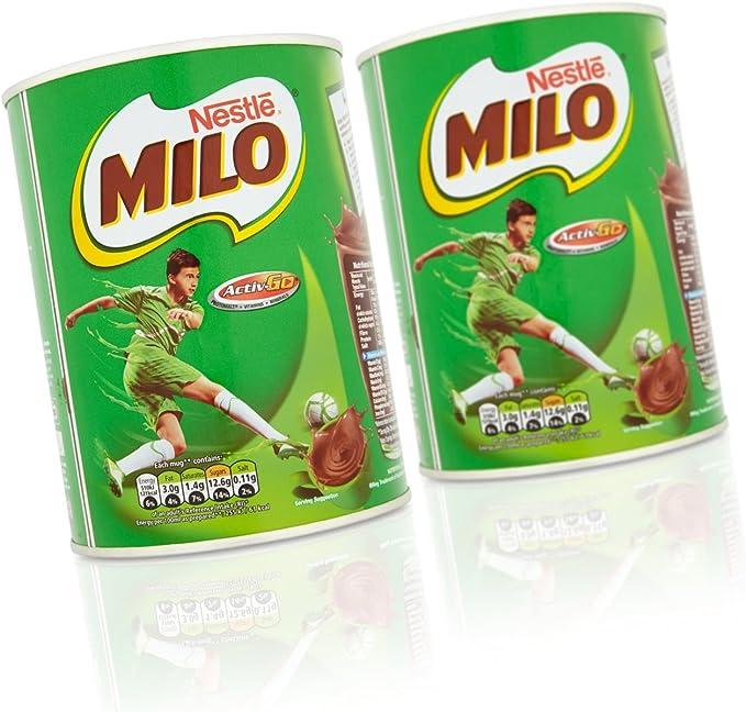 Milo Polvo de chocolate de malta instantánea, 400 g (paquete de 6): Amazon.es: Alimentación y bebidas