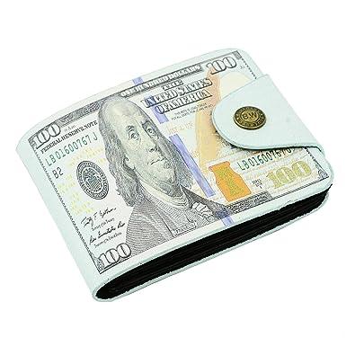 b23d420f5194 Amazon | 財布 メンズ レディース 紙幣 お札柄 マネープリント 二つ折り 財布 100ドル柄 | 財布