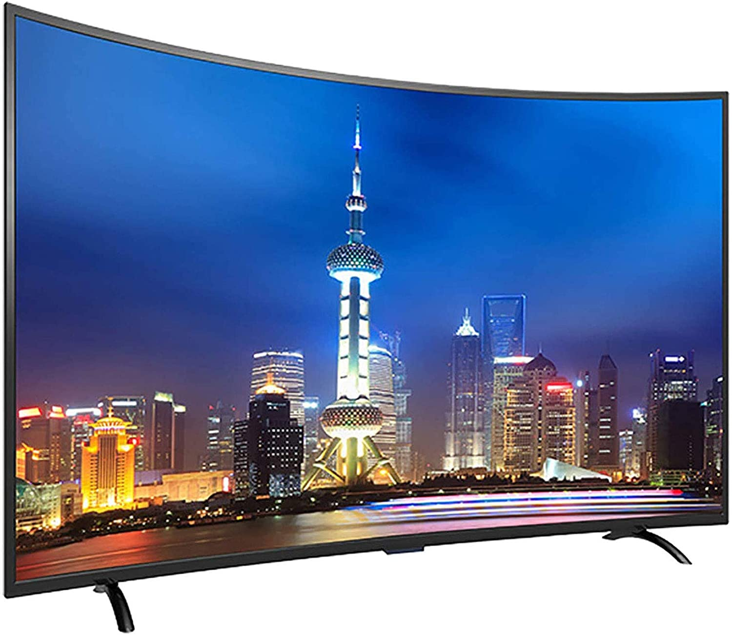 Curved TV, 55inch LED TV Smart Network TV Ultra Thin Body Suitable for All People