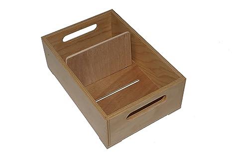 Fichero de madera, Capacidad para 900 tarjetas A6 horizontal