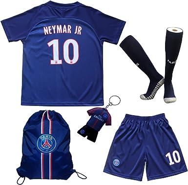 19//20 Home Football Kits Soccer Short Sleeve Jersey Kids Boy 3-14Y Team Club Set