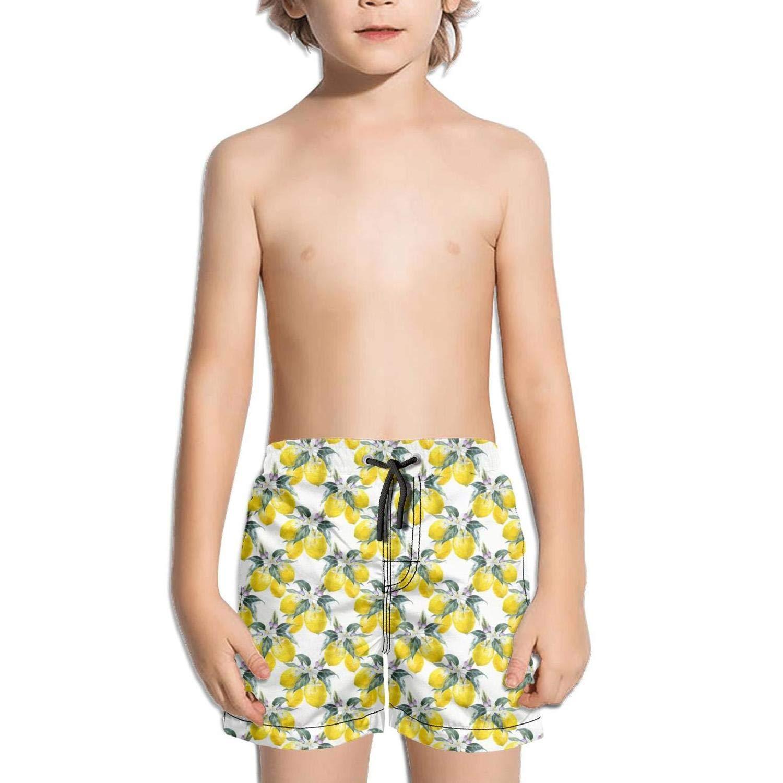 Kid Lemon Character Emoji Set Swimming Trunks Running Activewear Knee Length Boardshorts