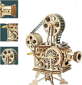 Rompecabezas De Madera 3D Proyector Vintage, Kits De Modelos Para ...
