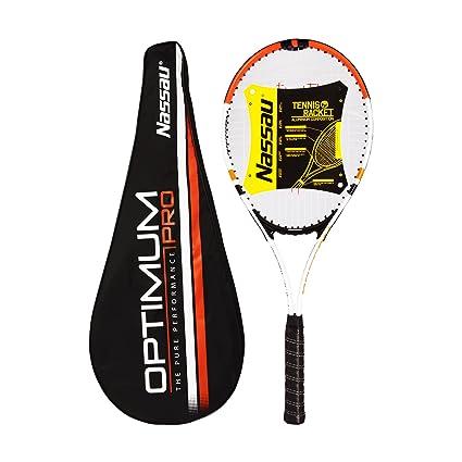Amazon.com: Nassau óptima Pro raqueta de tenis: Sports ...