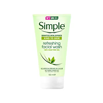 simple kind to skin facial wash