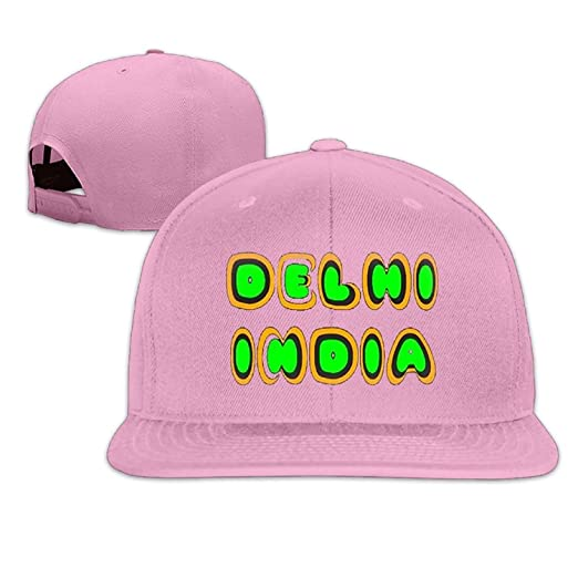 Amazon.com  Fangner Delhi India Fashion Fitted Flat-Bill Hat For Men ... 1b11c9f0e80