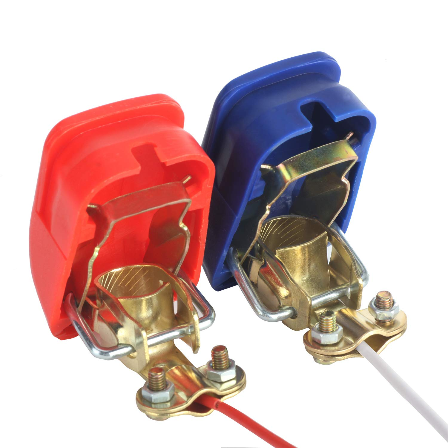 12v Quick Release Battery Terminal Connectors Clamps 4 Pin Header Cn2 Wiring Harness Disconnect Terminals Red Blue Automotive