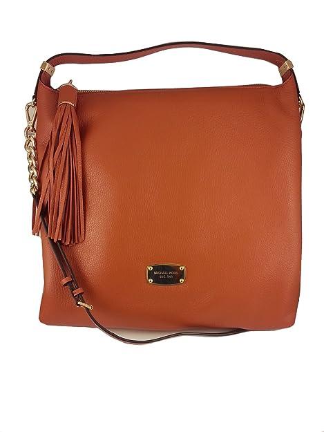 260c37937 Michael Kors Bedford Large Pebble Leather Top Zip Shoulder Bag in Burnt  Orange: Amazon.ca: Shoes & Handbags