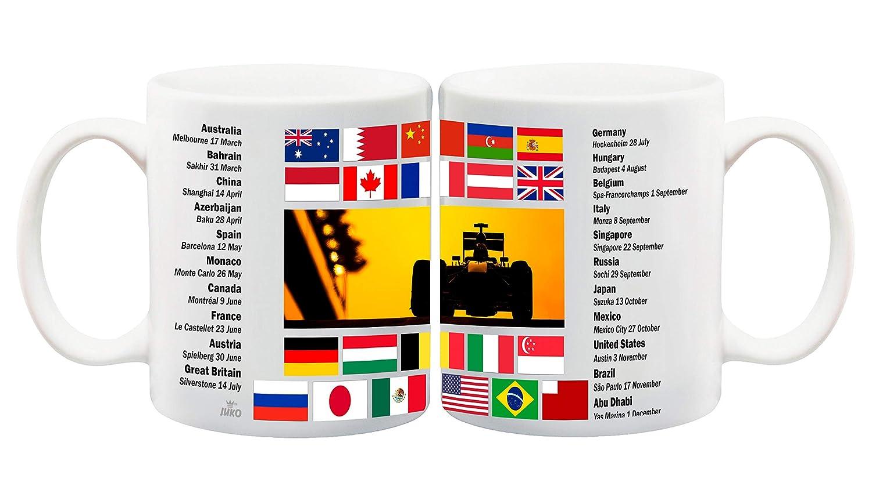 Fixtures Mug 2019 Formula One World Championship Calendar Lewis Hamilton  Race Calendar Cup