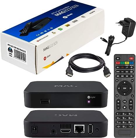 mag 322 Original Infomir & HB-DIGITAL IPTV Set Top Box Multimedia ...