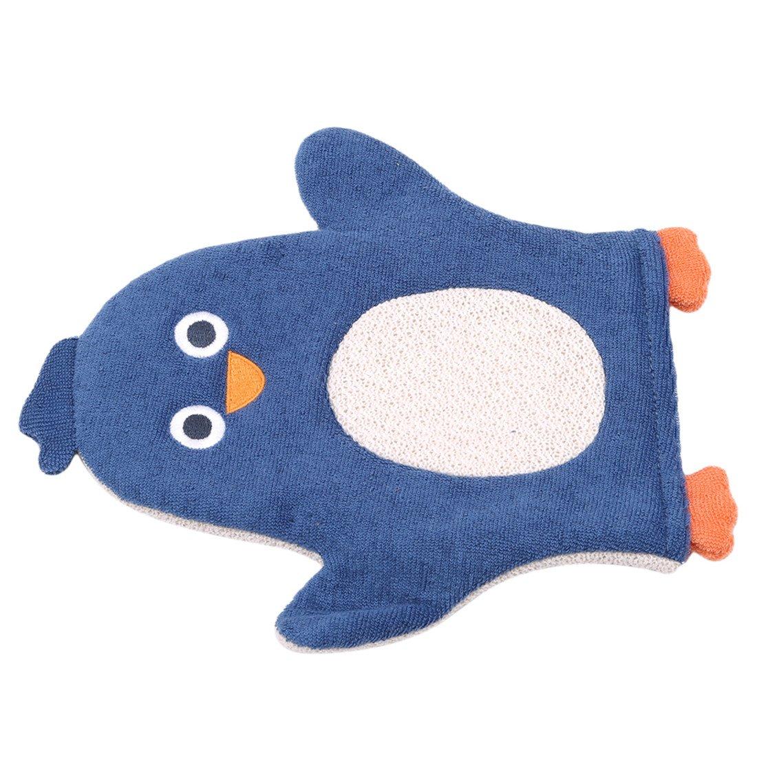 Pingouin Bleu LGJJJ Gant De Bain Enfants Dessin Anim/é Conception Cr/éatif Bain Balle Renard Hibou Pingouin en Forme De Gant De Douche Doux Doux Gant De Bain /Éponge