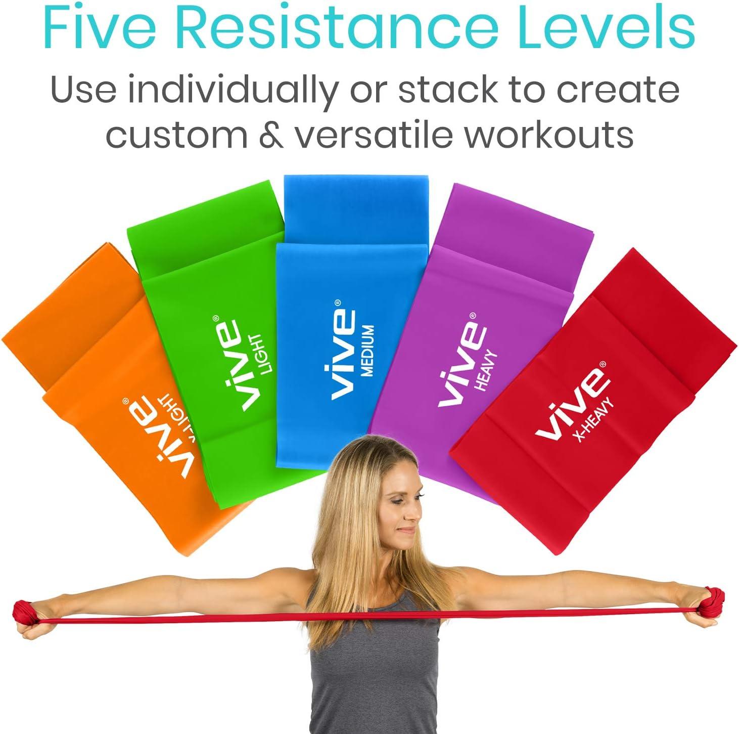 5 Piece Set Sports Fitness Resistance Band Fitness Home Gym Yoga Calitek