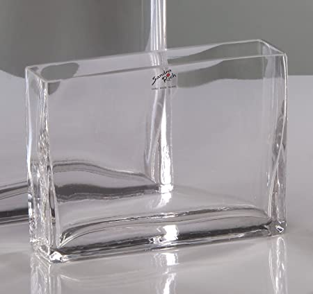 Glass Vase Rectangular Rectangular 8 Cm 200 X 50 Cm Clear By
