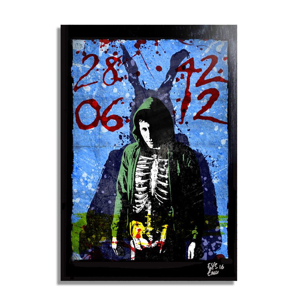 Donnie Darko und Frank the Rabbit - Original gerahmt Fine Art Malerei, Poster, Leinwand, Artwork, Druck, Plakat, Leinwanddruck, film