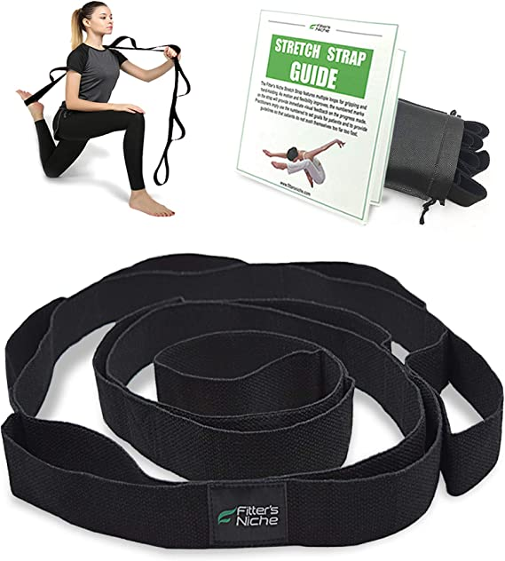8 Loops Non-Elastic Band Muvin Stretch Strap for Home Workout and ...