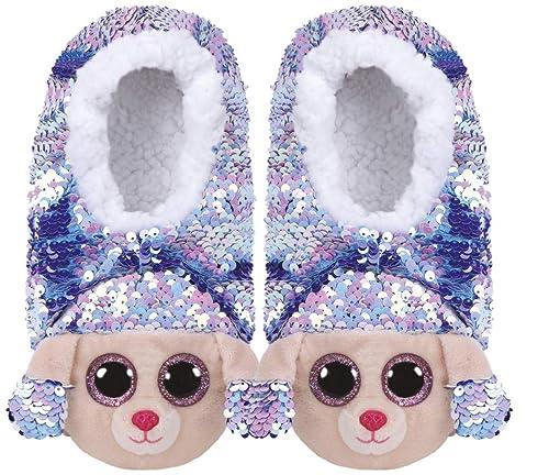 33 Rainbow Pantofole Ty Medie Le Caniche Peluche Taglia Paillettes knwOP80X