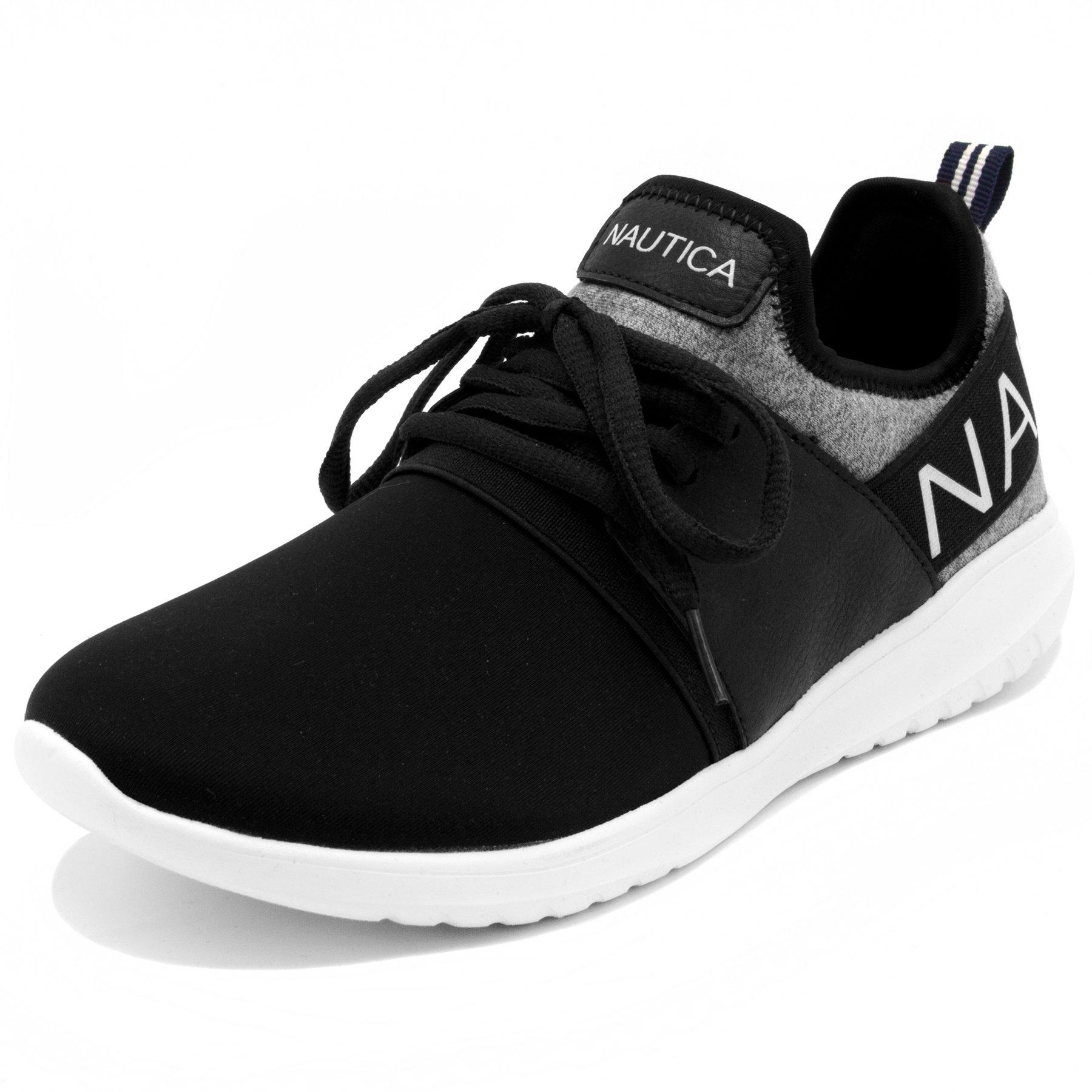 Nautica Women Fashion Jogger Sneaker-Black Heathered-7.5 by Nautica
