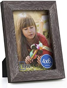 RPJC 4x6 Picture Frames Made of Solid Wood High Definition Glass for Table Top Display and Wall Mounting Photo Frame