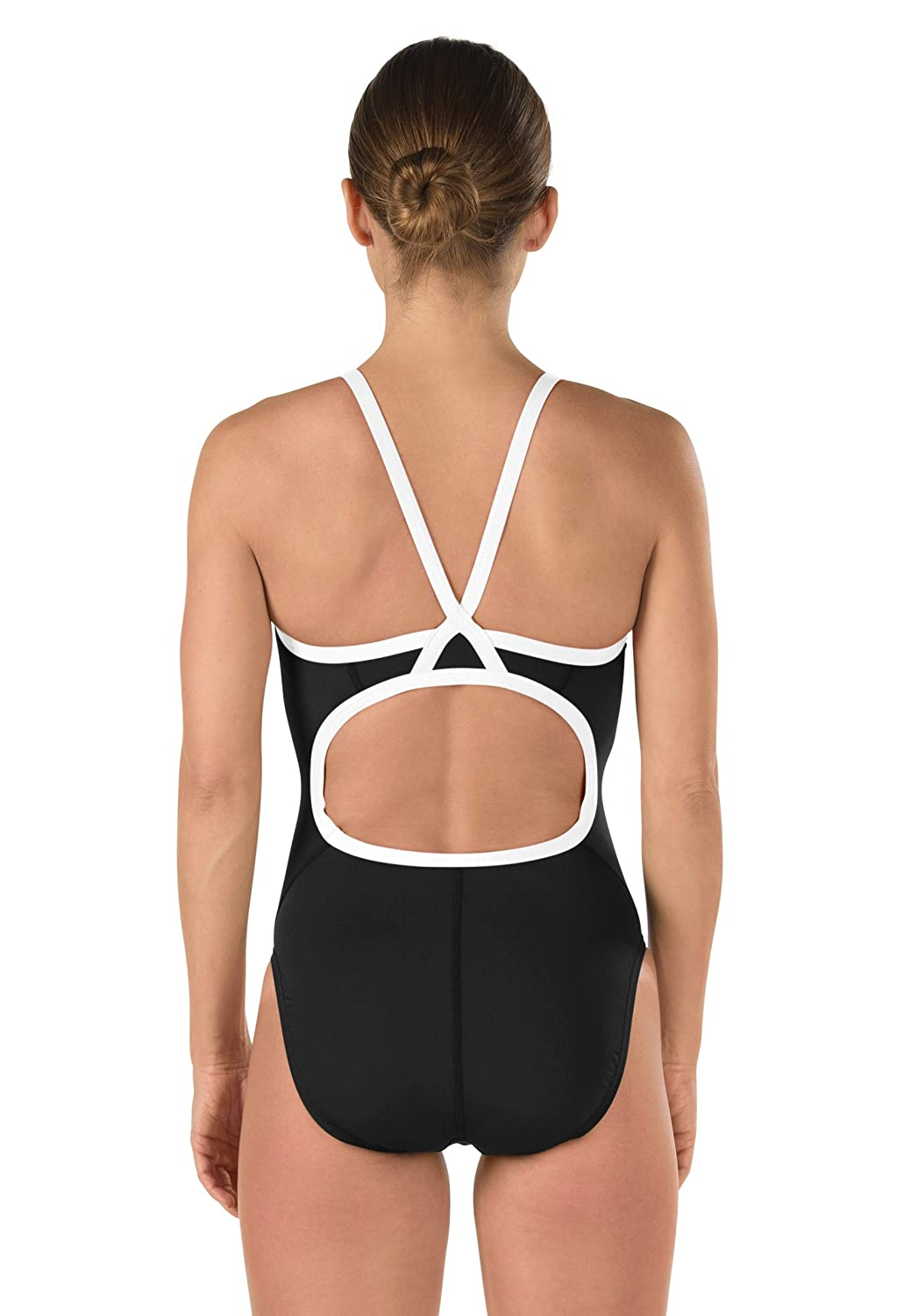 Speedo Female One Piece Swimsuit Solid Flyback Training Suit 819016