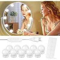 Luces para Espejo de Maquillaje, 10 Luces de Espejo de Tocador con 10 Cintas…