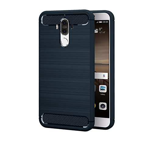 Ivso - Funda protectora para Huawei Mate 9, carcasa de silicona azul turquesa