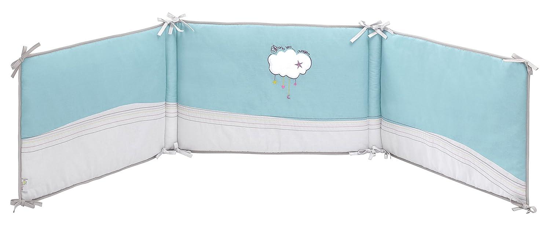 P'tit Basile- Tour de lit coton BIO Dans les nuages. S'adapte aux lits 60x120 cm et 70x140 cm. P' tit Basile