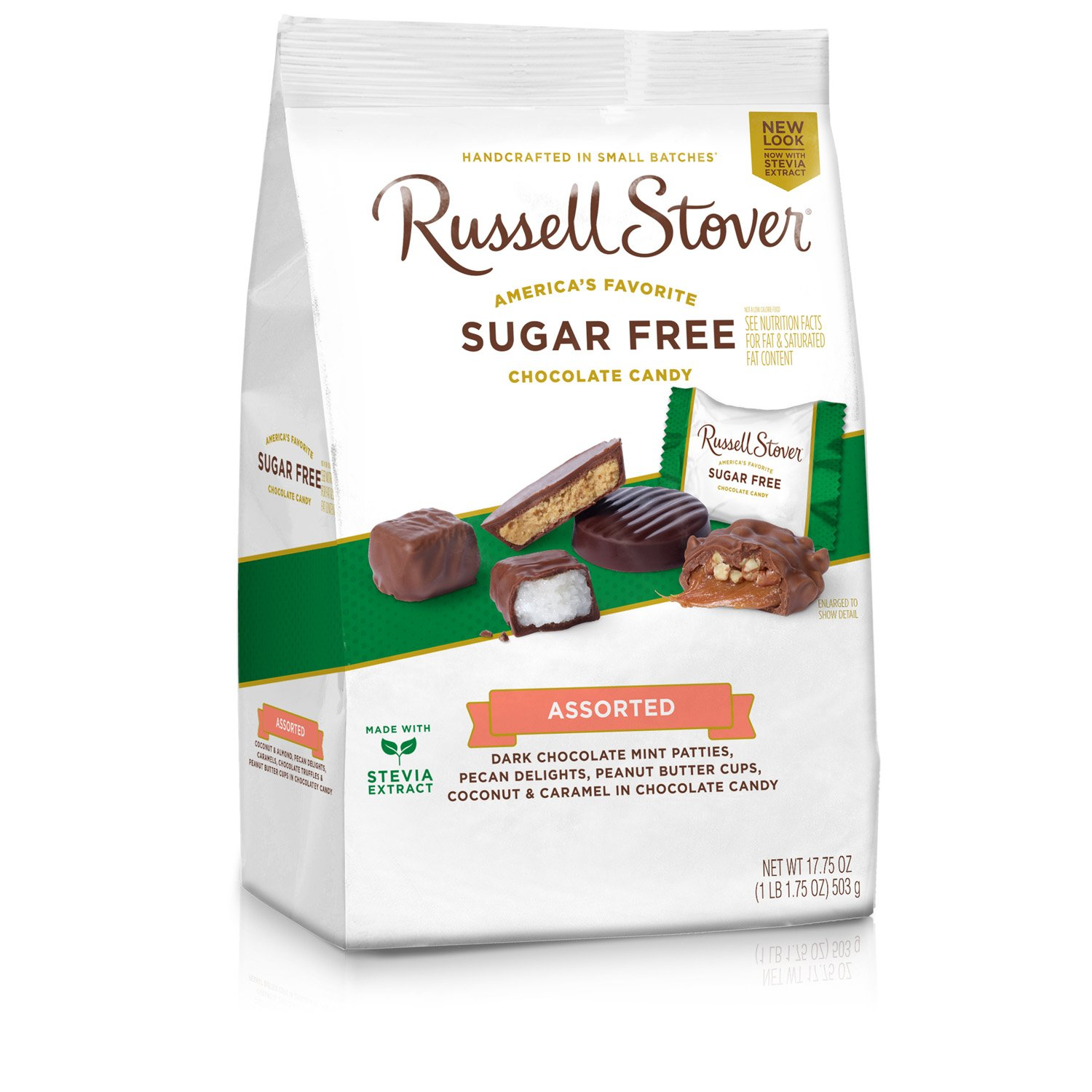 Russell Stover Sugar Free Assortment, 17.85 Ounce Bag, 4 Count by Russell Stover
