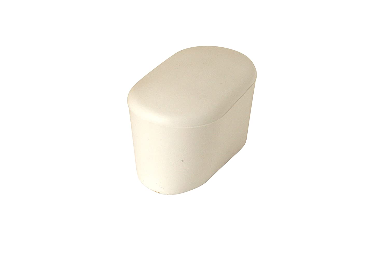 4 x Kappen 40 x 20 mm oval Stuhlkappen schwarz Rohrkappen für Gartenstuhl
