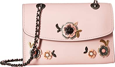 c335c8659b1a COACH Women s Tea Rose Stones All Over Parker Shoulder Bag Blossom Pewter  One Size