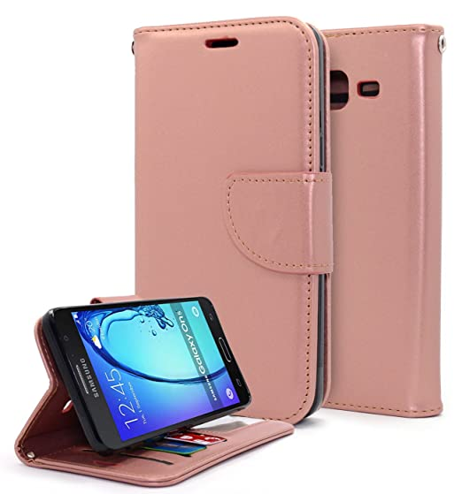 online retailer 51efd e9a65 Galaxy On5 Case, Galaxy On5 Wallet Case, NageBee [Kickstand Feature]  Premium PU Leather Flip Fold Wallet Case with [ID&Credit Card Slot] for  Samsung ...
